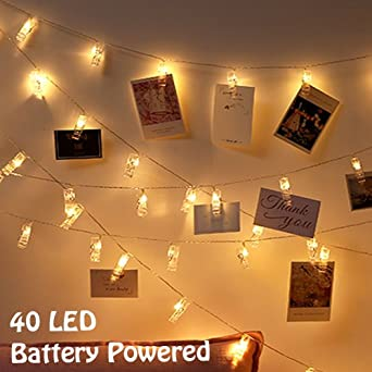 Gut JESWELL LED Foto Clips Lichterkette, 40 Photo Clips, 4,4 Meter/ 14