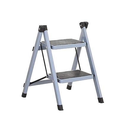 Outstanding Amazon Com Lyxpuzi Foldable Ladder Sturdy Double Layered Ibusinesslaw Wood Chair Design Ideas Ibusinesslaworg