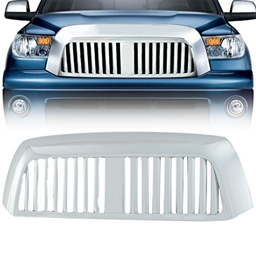 EAG 07-09 Toyota Tundra Replacement Grille Chrome ABS Vertical Bar Grill With Shell ()