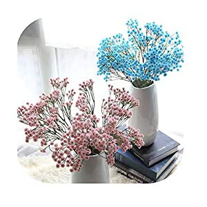 On Going--Love Artificial Flowers Artificial Silk Fake Flowers Baby's Breath Floral Wedding Bouquet Party Decors 33