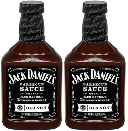 Jack Daniels BBQ Sauce, Old No. 7 Recipe,19oz, (pack of