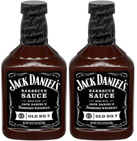 Jack Daniels BBQ Sauce, Old No. 7 Recipe,19oz, (pack of