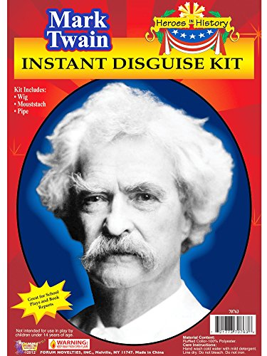 Forum Novelties Men's Heroes In History Instant Disguise Kit Mark Twain, Multi, One -