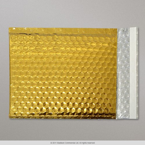 Bag A4 Size Single Gold Metallic Bubble Wrap Lined Padded Mailing Gift Envelope