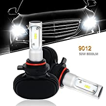 QUAKEWORLD 9012 Led Headlight Bulb SEOUL Chips 8000LM 6500K Conversion Kit HID Halogen Headlight Replacement for Ford Edge Buick Cadillac Chevrolet Dodge Hyundai Lincoln Nissan Jeep Cherokee Truck
