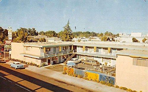 Birdseye View Postcard (Visalia California Inn Motel Birdseye View Vintage Postcard K42080)