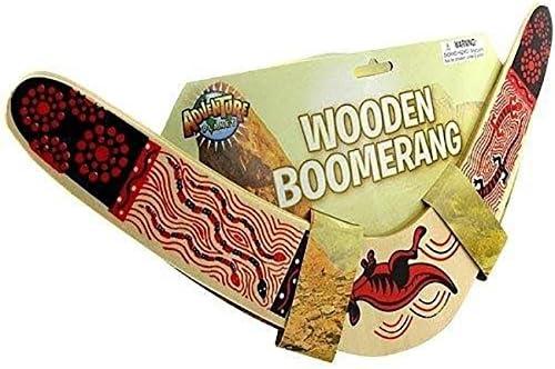 Rhode Island Fantaisie Boomerang en Bois Couleurs Peuvent Varier Lot de 2