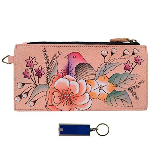 Garden 1 Vintage (Anna Anuschka Leather Organizer Wallet - Purse Light Bundle - (Vintage Garden))