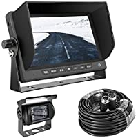 Backup camera truck GERI Waterproof rear view camera system 12V 24V HD CCD(WIRED) + 7 TFT LCD Color HD Screen Display Monitor