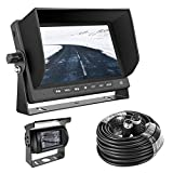 GERI Backup camera and Monitor System for Truck Waterproof rear view camera system 12V 24V HD CCD(WIRED) + 7'' TFT LCD Color HD Screen Display Monitor