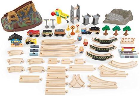 KidKraft Bucket Top Construction Train Set 61Piece