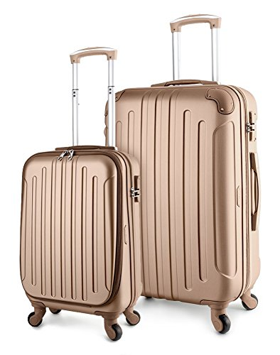 - TravelCross Victoria Luggage Lightweight Spinner Set - Champagne, 2 piece (20'' / 28'')