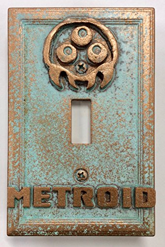 Metroid Stone/Copper/Patina Light Switch Cover (Custom) (Patina/Copper)]()
