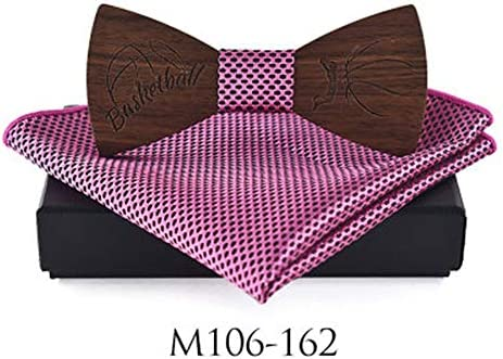 Color : 60 Fashion Party Wooden Bow Tie Suit Square Scarf Bow Tie Suit Necktie