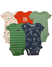 Carter's Baby Boys' 5 Pack Bodysuits (Baby) - Dinosaurs...