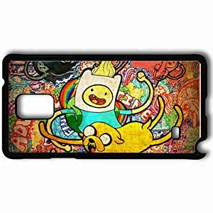 Personalized Samsung Note 4 Cell phone Case/Cover Skin Adventure Time Black