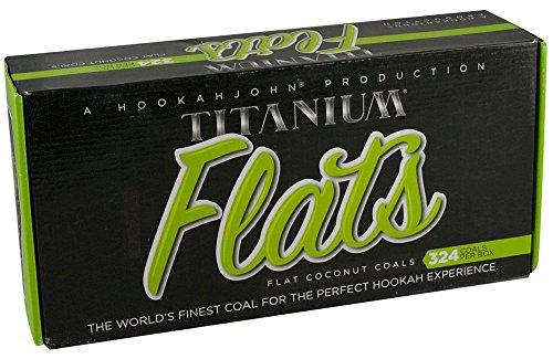 Titanium Coconut Hookah Coals 3kg 324 Count by Titanium Coals