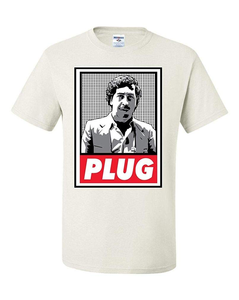 Pablo Escobar Plug Cocaine Cow Narcos S T Shirt Printing Short Sleeve Tee