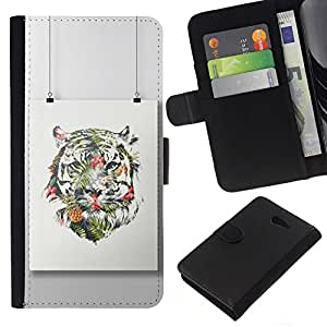 All Phone Most Case / Oferta Especial Cáscara Funda de cuero Monedero Cubierta de proteccion Caso / Wallet Case for Sony Xperia M2 // Painting Colorful Art Drawing