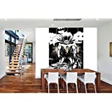 Superman vs Batman - Large Full Wall Graphic Vinyl Decal Sticker - Awesome Wallpaper - Over 40 Square Feet! (8 feet x 5.25 feet, Black)