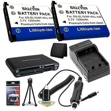Amazon.com: Dos LI-42B Ion de litio Baterías de reemplazo w ...