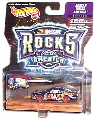 Hot Wheels Racing - NASCAR - Rocks America - Petty Enterprises/HotWheels - #44 Pontiac Grand Prix (Black) replica with bonus die-cast guitar - Nascar Rocks