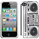 Apple iPhone 4 4S Retro Boom Box Hard Case Phone Cover