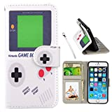 UrSpeedtekLive iPhone 6s Case, iPhone 6 Case, Premium PU Leather Funny Pattern Flip Wallet Case Cover Card Slots & Stand Compatible iPhone 6/6s 4.7 Inch-Gameboy