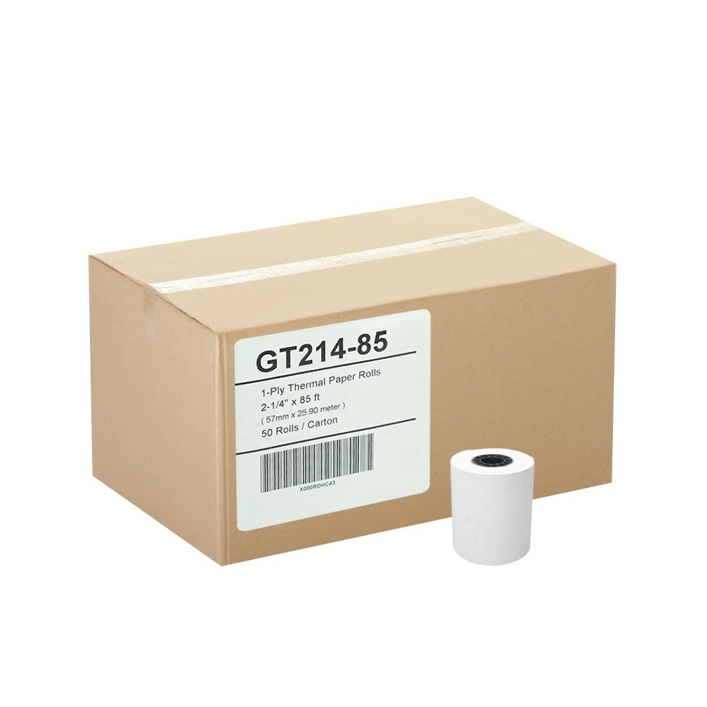 (50) Gorilla Supply Thermal Paper Rolls 2-1/4 X 85ft Vx510 Vx570 FD50 T4220