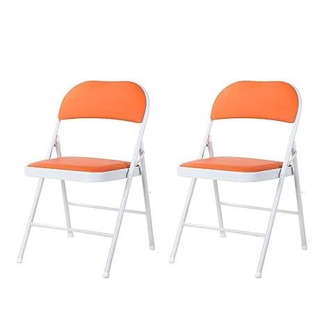 Amazon.com: Silla plegable de hierro para ordenador, silla ...