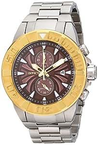 Invicta 12308 - Reloj de pulsera hombre, acero inoxidable, color plateado