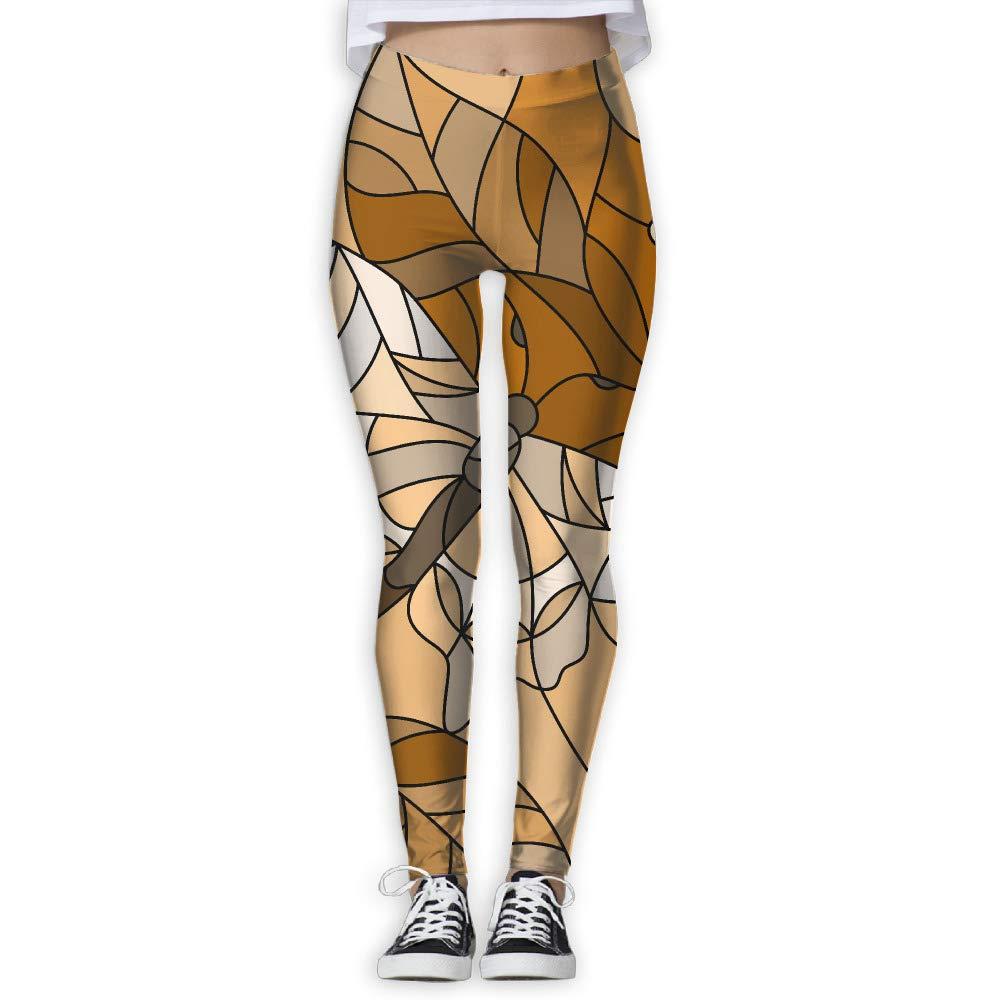 EWDVqqq Girl Yoga Pant Glass Style Butterfly High Waist Fitness Workout Leggings Pants