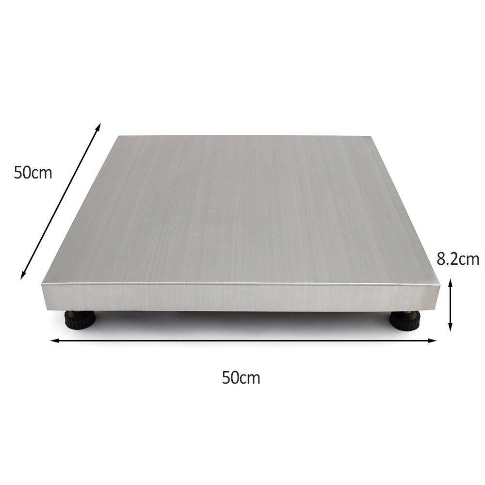 T-Mech - Balanza Electrónica Veterinaria 300kg 50 x 50cm con 4 Funciones