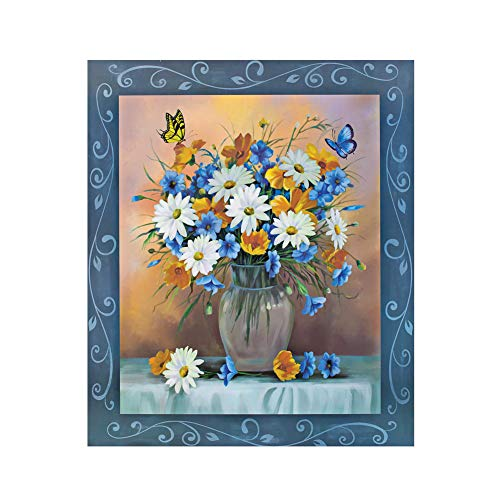 Daisy Bouquet and Butterfly Dishwasher Magnet - Removable and Reusable, Decorative Kitchen Accessories