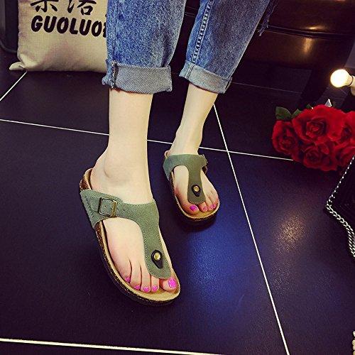 HAIZHEN mujer Manera Zapatillas Deslizadores La Del Colores Del De Muchos Verano Planas Los mujeres Para Los De Corcho zapatos De de Playa De La Pares Femeninas Con 6 Zapatos dttwZqr
