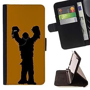 - Chewy Music - - Prima caja de la PU billetera de cuero con ranuras para tarjetas, efectivo desmontable correa para l Funny HouseFOR Sony Xperia Z1 Compact D5503