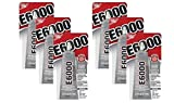 6 Pack E6000 Craft Industrial Strength Adhesive, Clear, 2 oz