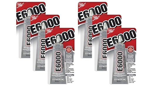 6 Pack E6000 Craft Industrial Strength Adhesive, Clear, 2 oz by Energi8_fab