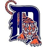 "Detroit Tigers MLB Baseball Car Bumper Sticker Decal 4"" x 5"""