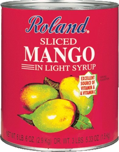 Amazon.com : Roland Sliced Mango In Light Syrup, 6LB 6-Ounce Can (Pack of 2) : Mangoes Produce : Grocery & Gourmet Food