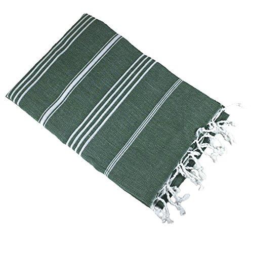 Army Beach Towel (Exclusive District - 100% Cotton, High Thread Count Turkish Peshtemal Bath, Beach, Spa Towel 38