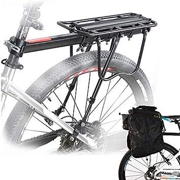 Malayas Bicicleta Trasera Rack, Bicicleta Equipaje Rack Aluminio ...