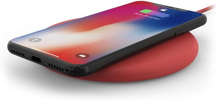 Base de carga inalámbrica para iPhone y Smartphone, color rojo ...