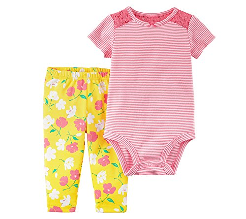 Carter's Baby Girls' 2 Piece Bodysuit Pant Set 9 Months (Body 2 Piece Set)