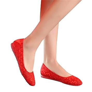 7ef5622ca5 Beautiful bridal shoes Scarpe da Sposa - Scarpe da Sposa Rosso Tacchi Alti  con Pizzo Spessore