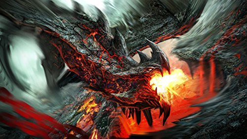 Lava Dragon Playmat 24 x 14 inch Mousepad for Yugioh Pokemon Magic the Gathering by RFG REMOVE FROM GAME
