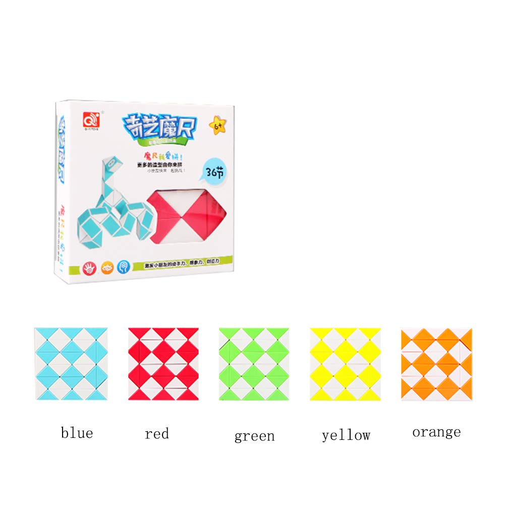 Variety Intelligence Magic Ruler Children Deformation Puzzle Toy, Blue, 24Segment SHENSHOU