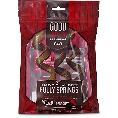 Good Lovin' Traditional Beef Bully Spring Dog Chew, Pack of 3