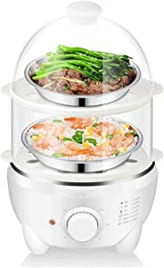 ZOUSHUAIDEDIAN Egg Cooker, Electric Egg Cooker with 14 Eggs Capacity, Noise Free Multi-function Egg Maker, Soft/Medium/Hard - Boiled Egg Cooker with Automatic Shut Off - Multifunctional Egg Cooker,Whi