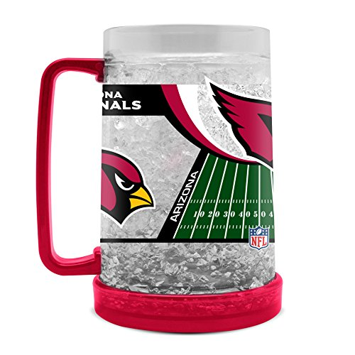Duck House NFL Arizona Cardinals 16oz Crystal Freezer Mug Arizona Cardinals Crystal